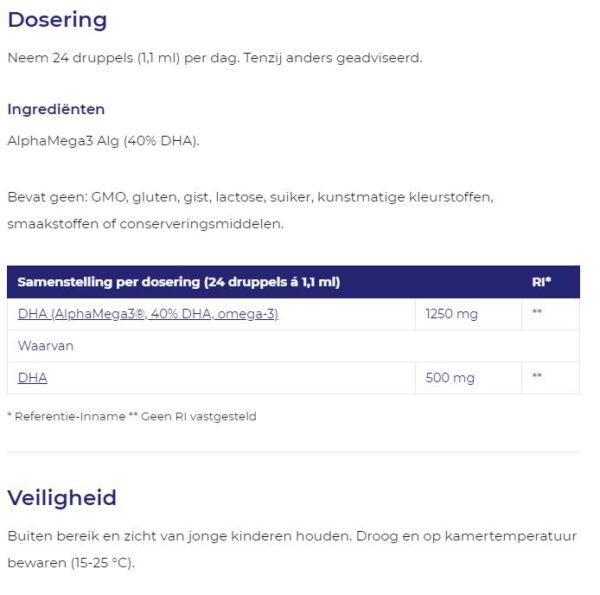 Vegan omega-3 algenolie