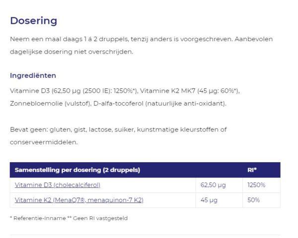 Dosering vitamine D3